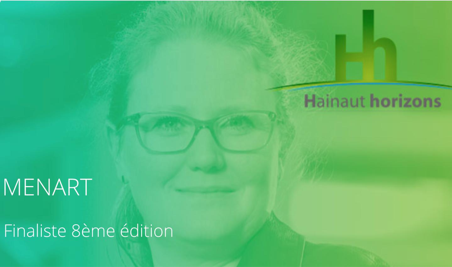 Menart, finaliste du Prix Hainaut Horizons 2021